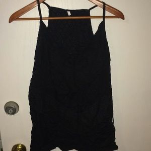 Lace tank top with great detail in black